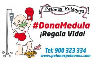 Pegatina #donamedula 10x15cm