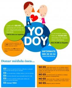 Cartel YO DOY cedido por la Fundación Carreras para nuestra web.